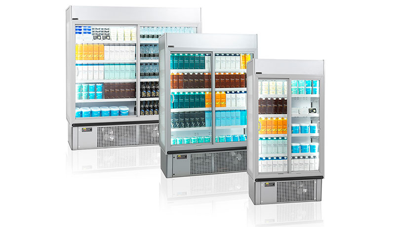 New energy-saving multideck with doors